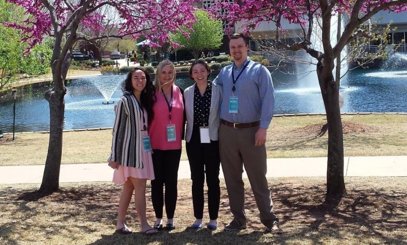 picture of four MSFF undergraduate research fellows attending the 2018 NCUR