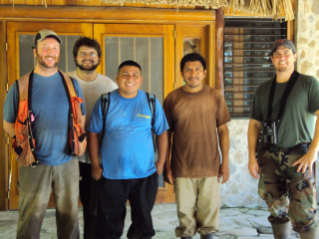 CMI field researchers with guides from Belize.
